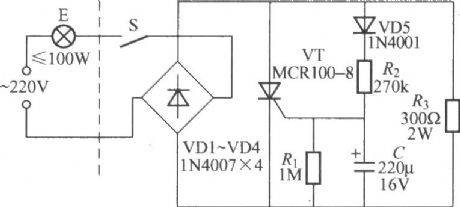 Incandescent lamp life extension switch circuit 2