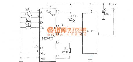 Remote control automatic door circuit diagram