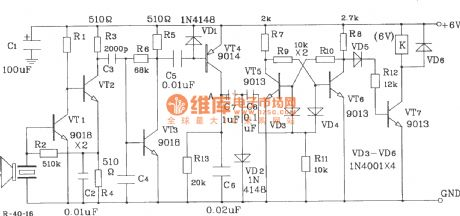 T, R-40 Series of universal ultrasonic transmitting, receiving sensor circuit diagram