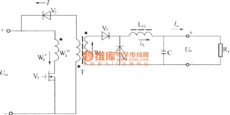 Single end normal shock converter circuit principle diagram