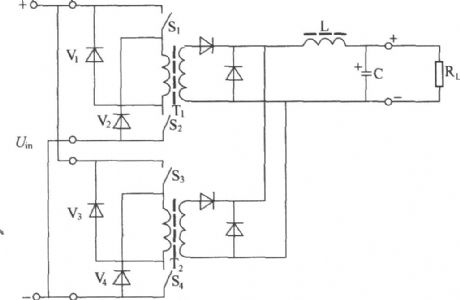 Two normal shock converter circuit principle diagram