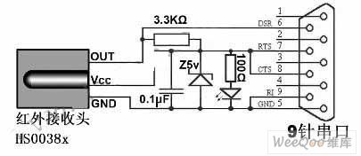 PC infrared remote control receiver circuit diagram