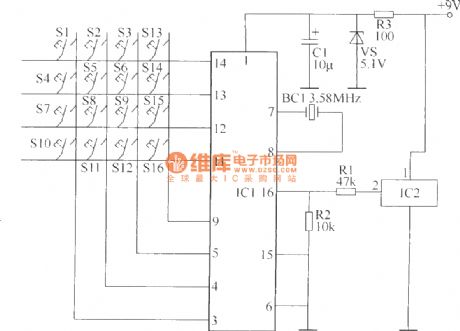 Wireless remote control switch circuit 5