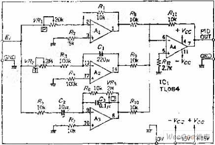 Circuit Diagram Of Pid Controller | Temperature Pid Control Circuit Of Operational Amplifier