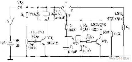 Battery Discharging Control Indication Circuit