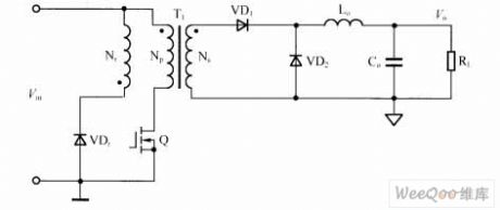 Single End Forward DC-DC Converter Circuit