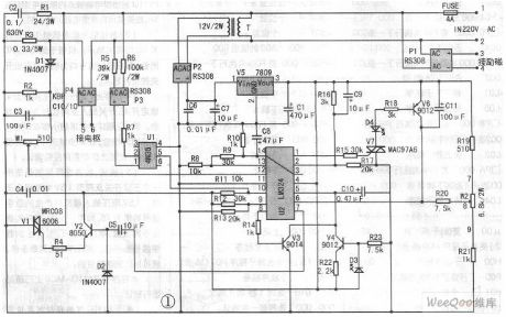 DC Motor Stepless Speed Governor Circuit