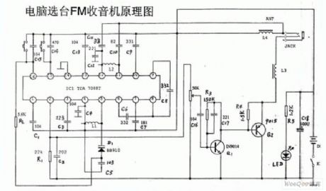 Channel Selection and FM Circuit of TDA70887 Computer