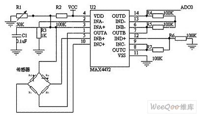 Based on BP01 type pressure sensor blood pressure sensor circuit