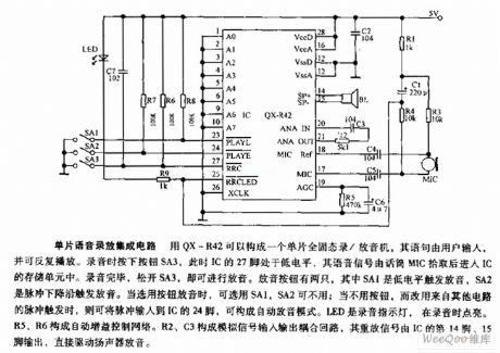 recorder electrical equipment circuit circuit diagram seekic commonolithic voice record replay intergarted circuit
