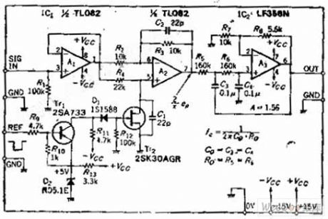 Same Frequency Detection Circuit of Low Frequency and Small Drift Polarity Converting Type