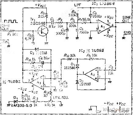 stable frequency and amplitude sine wave output circuit2400 Authormichel Keyword Binary Counter Circuit Fromseekic #6