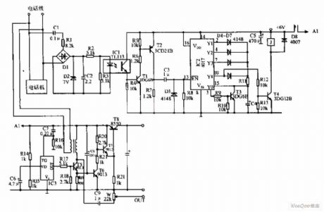 Automatic Recording Telephone Interface Circuit