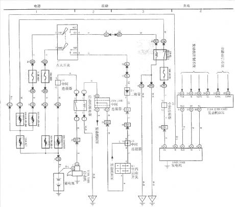 Faw_Toyota_Crown_electric_starting_and_charging_system_diagram