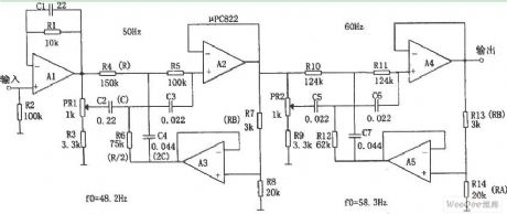 Power Frequency Noise Filter Circuit