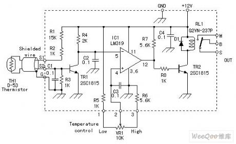 NTC Thermal Resistor Temperature Controller Circuit