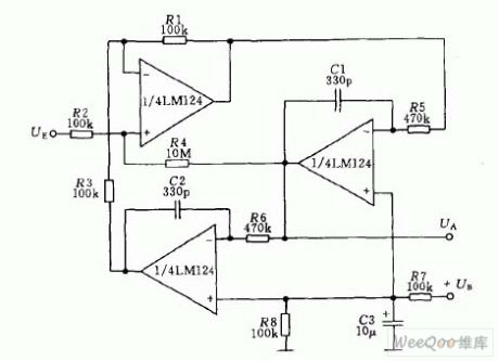 Active biquad low-pass filter circuit
