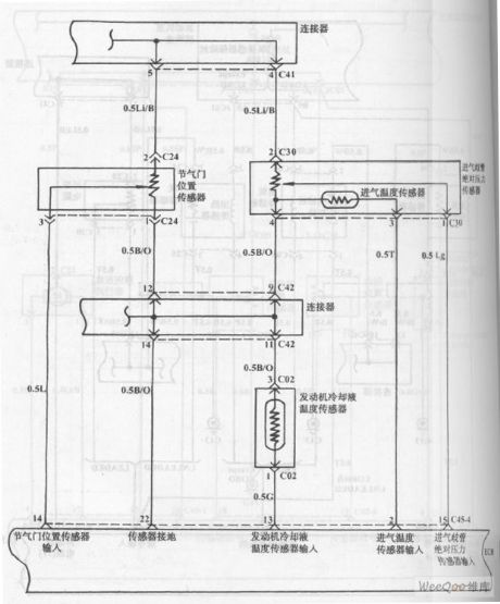 Fuel Injection System Circuit of Hyundai Sonata with V4 Cylinder Engine (6)