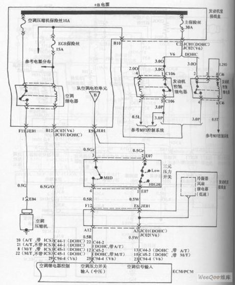 Hyundai Sonata Car Blower And Air Conditioning Control System (Automatic) Circuit (the 4th)