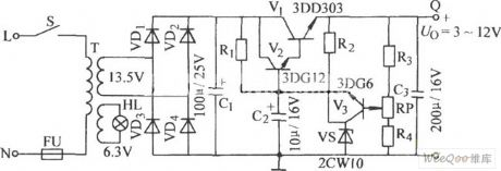 Simple Series Adjustable Regulator Circuit