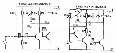Timer circuit using the monostabillity free-send device
