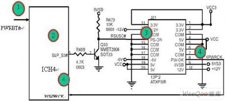 Power Control Circuit When Computer Mainboard Is Started