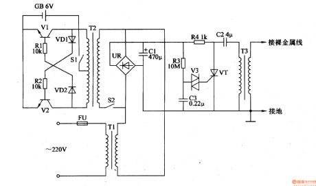 electric fence  electric fence capacitor