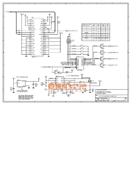 Computer motherboard circuit diagram 440LX2_32