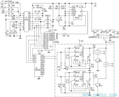 index 206 control circuit circuit diagram seekic RF Motor Circuit cordless phone as remote controller circuit