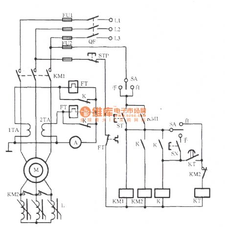 Wound rotor induction motor manual and automatic serial reactor step down start up circuit on synchronous motor wiring diagram