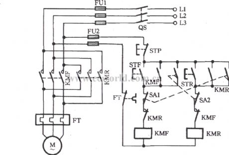 index 5 relay control control circuit circuit diagram three phase motor using the limit switch for inverting circuit