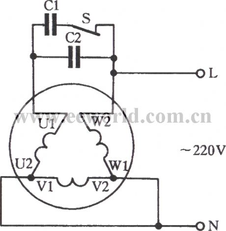 What Is The Significance Of A Three Point Starter In Electrical Machines moreover Circuit diagram together with R7755379 Reverse rotation single phase capacitor likewise Universal motor in addition 120v Motor Wiring Diagram. on wiring diagram for electric fan motors