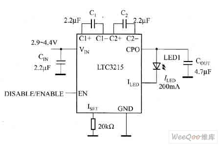 The white light LED driver circuit of high current