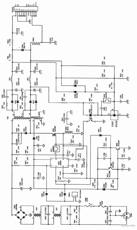 aoc lm729 lcd switch power supply circuit diagram - power supply circuit