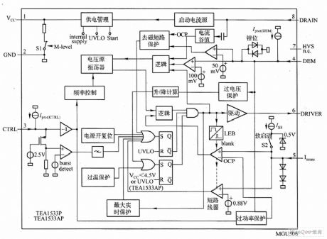 TEA1533 internal circuit diagram
