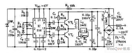Electronic ballast circuit diagram