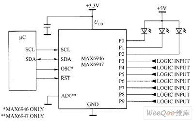 index 29 led and light circuit circuit diagram seekic commax6946 max6947 white led driver circuit diagram