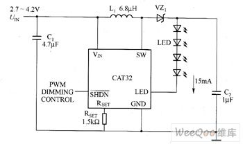 cat32 white led driver circuit diagram