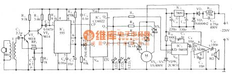 Sound control electric fan speed governing and the cricket voice control circuit