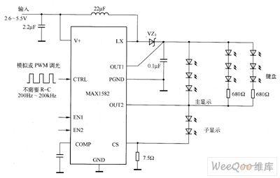 max1582 led driver circuit diagram led and light circuit circuit rh seekic com