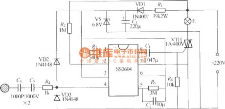 SS0604 Touching stepping dimmer circuit diagram