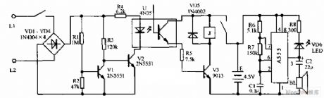 Anti-toll-fraud sound and light annunciator circuit diagram