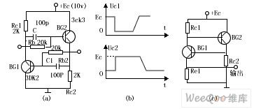 Complementary tube pulse circuit principle and applied circuit diagram