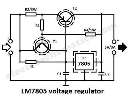 LM7805 voltage regulator