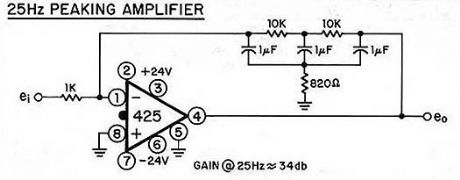 25hz peaking amplifier
