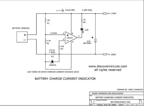 Battery Charge Current Indicator circuits