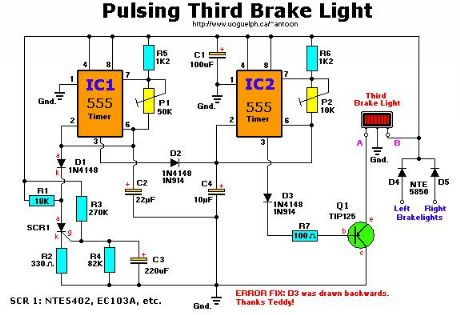 pulsing third brake light