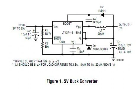 High Efficiency 500kHz, 4.5A Step-Down Converter
