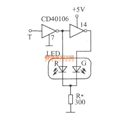 Logic level test circuit