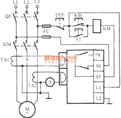 EOCR motor protection circuit